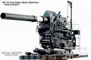 M1 35,5cm schweres Geschütz WWII EXCLUSIV 1/35