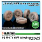1/35 U.S M-ATV Sagged wheel set (fo
