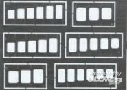 Quadrate und Rechtecke Gravierschablone