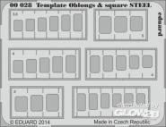 Template oblongs & square STEEL