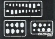 Abdeckungen und Scharniere Gravierschablone