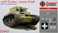 """40M Turan I. """"Heavy Tank"""" WWII."""