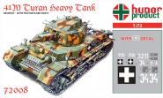 """41M Turan II. """"Heavy Tank"""" w. 75mm Gun WWII."""