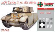 """41M Turan II. """"Heavy Tank"""" w. Sides Skirts WWII."""