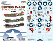 1/48 CURTISS P-40KS 57TH DECAL