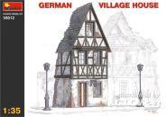 Deutsches Fachwerkhaus Ruine Halbrelief