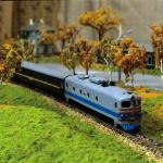 Diesellokomotive TEP10 blau-grau