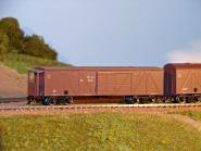 Gedecketer Güterwagen, mit Bremserstand