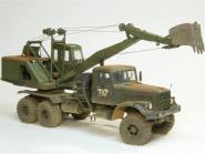 Soviet military excavator E-305BV