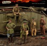 British Tank Corps, WWI, Big Set 5 figures