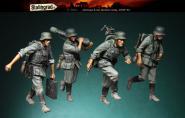 German 8 cm mortar crew