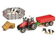 Spielset mit Traktor u. Kippanhänger, Siku Kompatibel, ca. 1:32