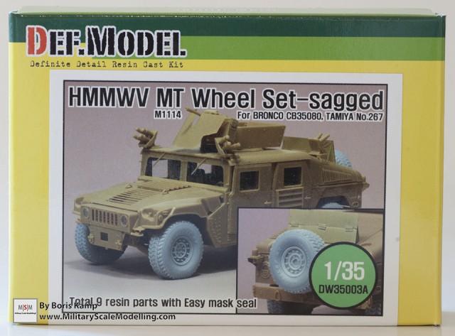 1/35 HMMWV MT Sagged Wheel se