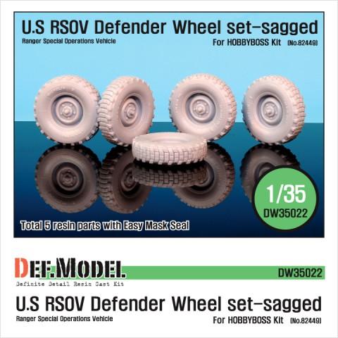 1/35 U.S RSOV Defender Sagged wheel